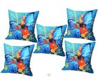Me Sleep Cushion Covers Painted Butterfly In Colours Set Of 5 (Multicolor)