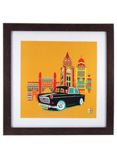 The Elephant Company Cool Cab Yellow Framed Wall A...