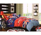 Valtellina London Dreams Double Bed Sheet With 2 Pillow Covers, red