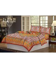100% Cotton Double Bed Sheet Set CH-Y-34, multicolor
