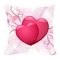 meSleep Pink Valentine Cushion Cover,  red