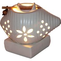Brahmz Aroma Oil Burner Electric Shankh, ivory