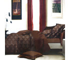 Aapno Rajasthan Polyester Double Bedsheet with Sweet Little Floral Print, brown