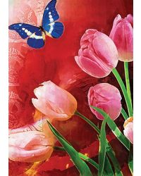 meSleep Lilly Butterfly Poster, multicolor