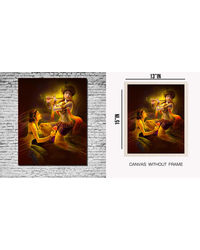 meSleep Canvas painting without frame - meera krishna, multicolor