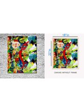 MeSleep Canvas Painting Without Frame - Splash Paint, Multicolor