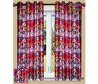 HandloomTrendz Beautiful Doremon Print Kids Window Curtain(CnDMpink4X5), pink