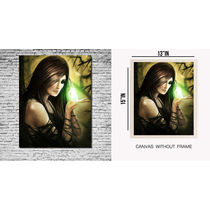 meSleep Canvas painting without frame - lady, multicolor