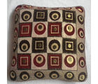 JBG Home Store Velvet Ethnic Block Design Cushion Covers ( Set of 5), maroon