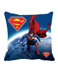 Warner Brother Super Man Cushion Cover 16 x 16 inch,  blue