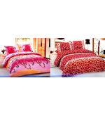 Zarai Richmond Set of 2 Double Bed sheets with Pillow Covers (LE-ZR-006/LE-ZR-012), multicolor