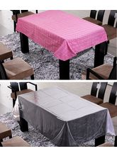 Freely Cotton Table Cover With Transprant Table Co...