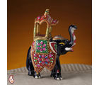 Ceramic Royal Elephant With Hand Painted Howdah (Multicolor)