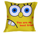 Me Sleep Yellow Friend Cushion Cover - Cushion-Friend-Yellow, multicolor
