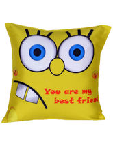 meSleep Yellow Friend Cushion Cover - Cushion-Friend-Yellow, multicolor