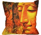 Me Sleep Coushin Covers Painted Buddha In Meditation (Orange)