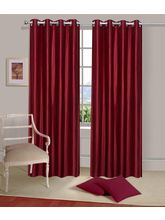La Elite Eyelet Plain Long Door Curtain - 1 Pc, Ma...