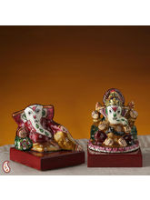 Sankatahara Ganapathi Made In Ceramic With Enamel (Multicolor)