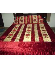 5 Pcs Bed Cover Set - Rosa Design, Multicolor