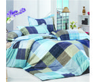 Story King Size Unique Printed Double Bed sheet, blue