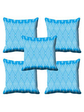 MeSleep Blue Ethnic Cushion Cover (16x16), Blue
