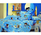 Pompe Kids Gang Single Bedsheet - K027 - (Multicolor)