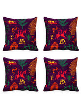 MeSleep Set Of 4 Cushion Cover With Colored Back, ...