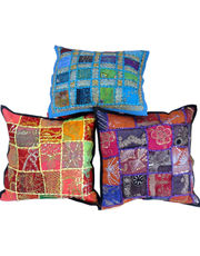 Jaipuri Designer Patchwork Cushion Cover Set 405
