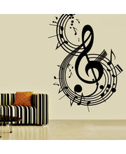 Creative Width Music Notes Wall Decal, Multicolor, Medium