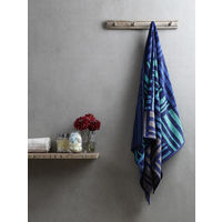 Turkish Bath Broken Check Bath Towel,  blue