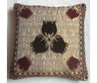 JBG Home Store Velvet Center Flower Design Cushion Covers ( Set of 5), cream