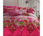 Aapno Rajasthan Enchanting Cotton Double Bedsheet with Floral Print, pink