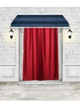 Luk Luck Poly Cotton Ring Rod Door Curtains, Red