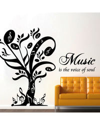 Creative Width Music Is The Voice Of Soul Wall Decal, multicolor, large