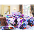 Story My Sweet Room King size Double Bed Sheet, multicolor