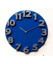 Panache 3D Wall clock, blue