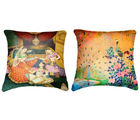Belkado Digital Print-Combo of Indian Princess & Peacock Cushion Covers, multicolor