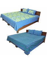 Little India Graceful Set Of 2 Double Bedsheet Wit...