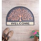 SWHF Rubber Door Mat Tree of Life,  black