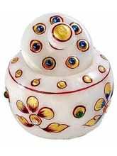Marvel In Marble -Utility Container{Sindoor Dani}-040(Multicolor)