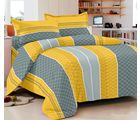 Story At Home 152 TC Pure Cotton Double Bedsheet With 2 Pillow Cover, yellow