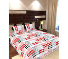 Story At Home 144 TC Pure Cotton Double Bedsheet With 2 Pillow Cover, white