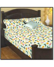 Godrej Interio Radical Neutrality Single Bedsheet - Tetris M, Multicolor