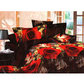 Elite Fabs 3D printed Designer Bedsheet Set - EF3D35, multicolor