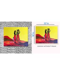 meSleep Canvas painting without frame - Women at work, multicolor