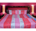 Handloomwala Amber Print Double Bed Sheet With Two Pillow (Multicolor)