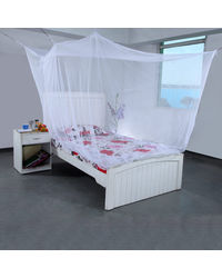 SLR Nets mosquito nets for extra Big double bed 8 x6 feet Multicolor colour, multicolor