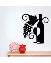 Creative Width Grapes N Wine Wall Decal, Multicolor, Small