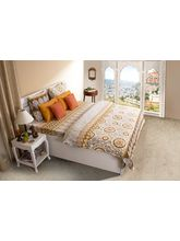 House This Rajasthan Rust 1 Double Bed Sheet & 2 Pillow Covers, rust