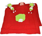 Handloomwala Rabbit Pillow Desgien Mehroon Baby Quilt Set (Maroon)